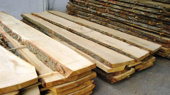Viengubo pjovimo ąžuolo mediena